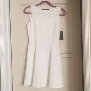 S Zara basic white dress NWT